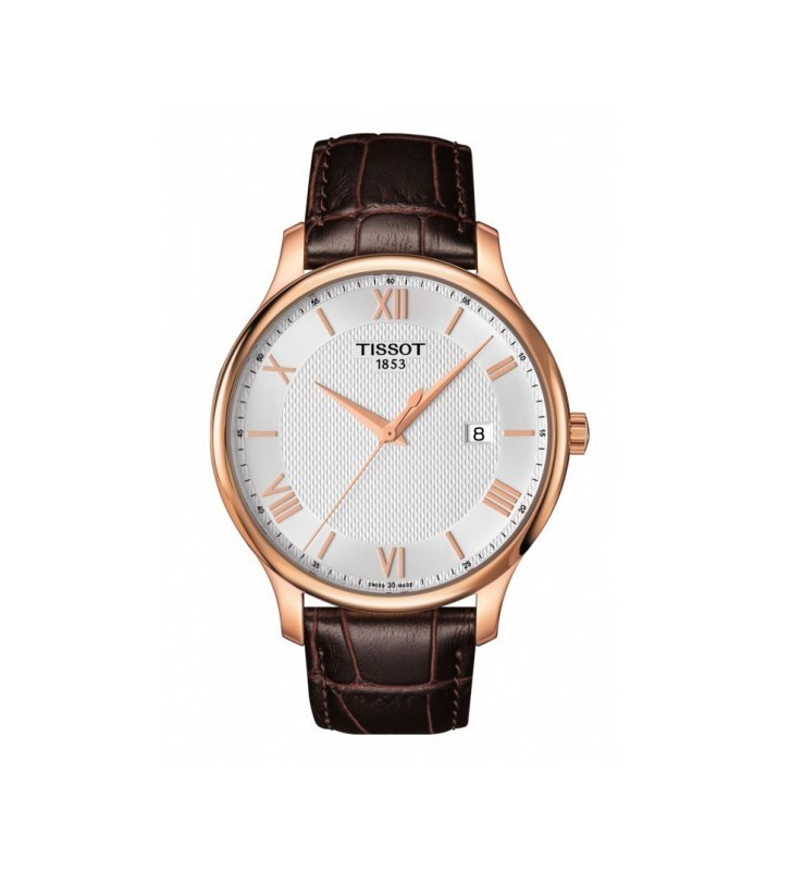 Orologio TISSOT T-Classic Tradition in Pelle - T0636103603800 Brown Rose Gold