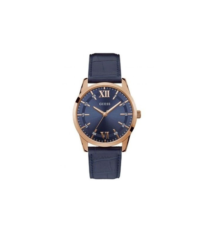Orologio GUESS Gent THEO in Pelle - W1307G2 Rose Gold Blue
