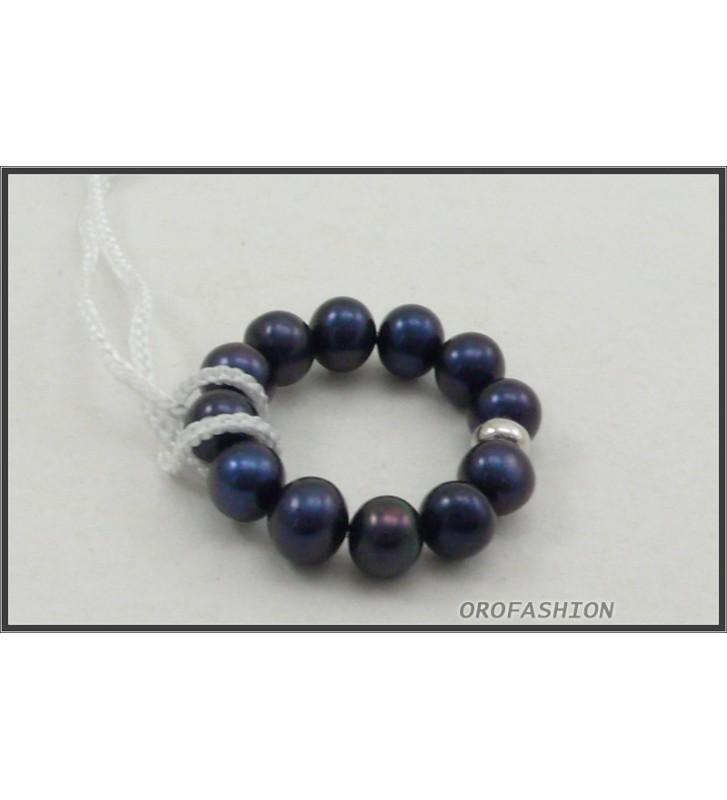 SALDI Anello YUKIKO di perle PLI1083YM12 Misura 12 elastica