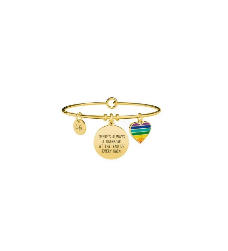 Bracciale KIDULT PHILOSOPHY in acciaio 316L - 731668 There's always... Gold