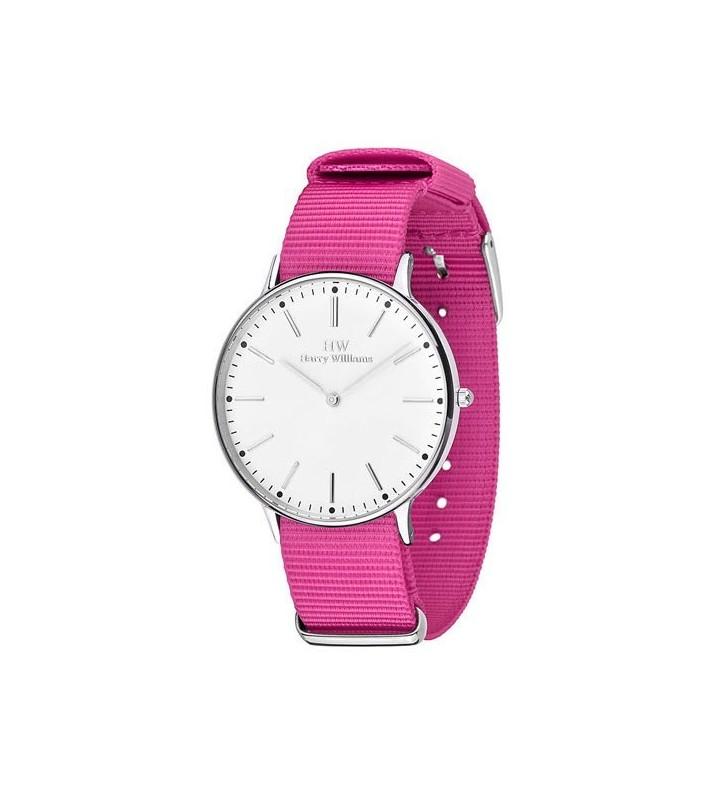 Orologio HW Lady Harry Williams pink fabric - HW2014L/14