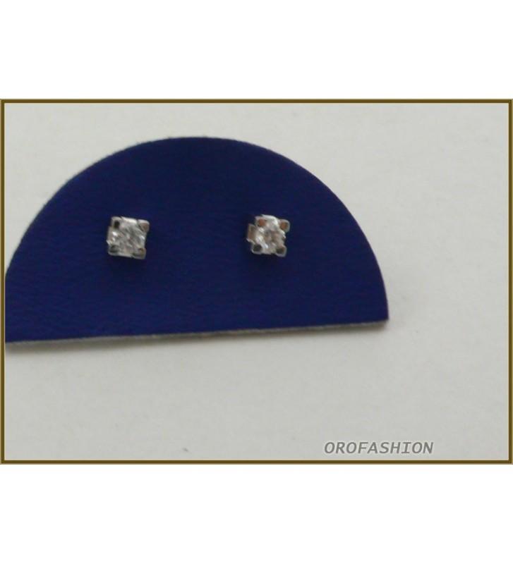 Orecchini oro bianco 18kt diamanti naturali - 29111518