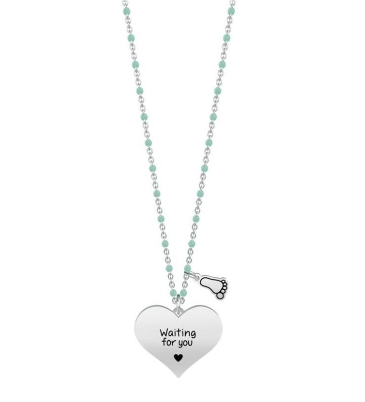 Collana KIDULT SPECIAL MOMENTS in acciaio 316L - 751017 Waiting for you...