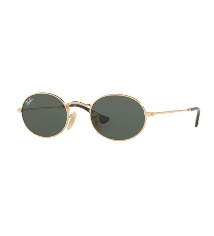 Occhiali sole Ray Ban New Round RB3547N 001 48 Gold Green