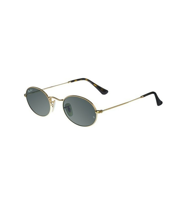 Occhiali sole Ray Ban New Round OVAL RB3547N 001 51 Gold Green