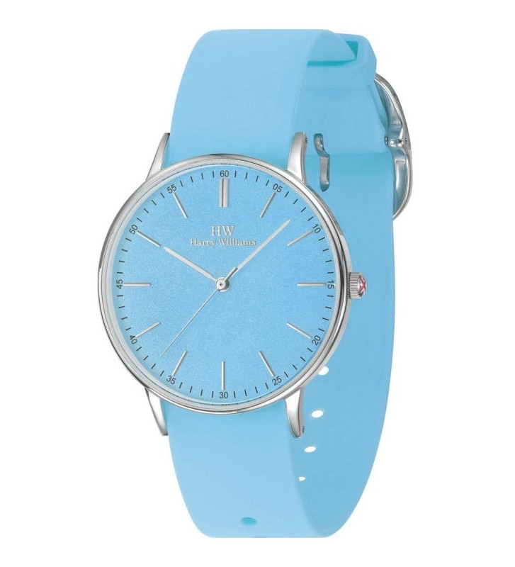 Orologio HW Lady Harry Williams - BEACH COLLECTION - Silicone Strap - HW2417L/02 Light Blue