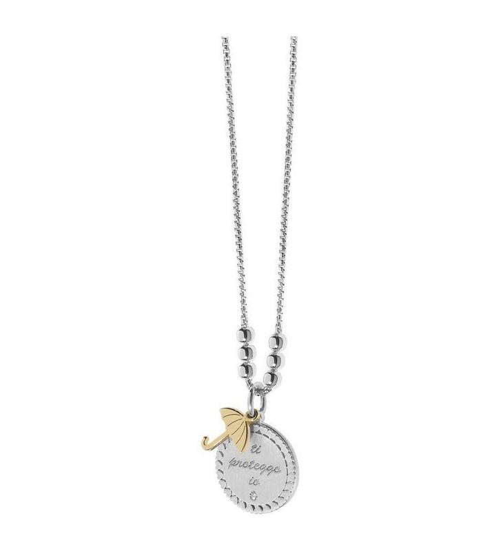 SALDI Collana COMETE GIOIELLI LOVE TAG in argento 925 e Zircone - GLA146