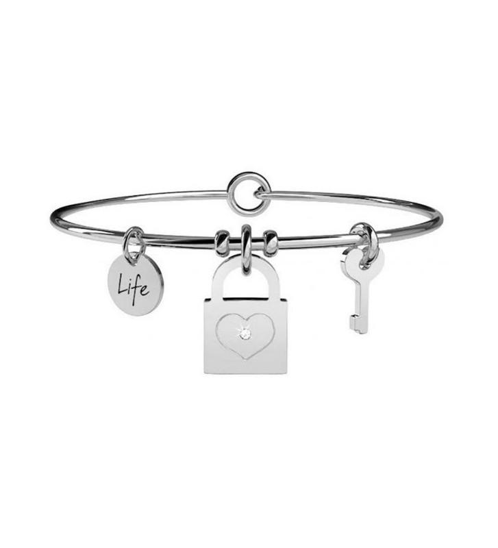 Bracciale KIDULT LOVE in acciaio 316L e cristalli - 231624
