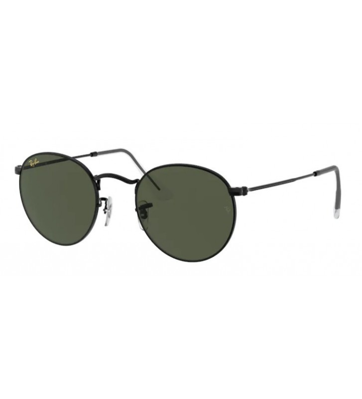 Occhiali sole Ray Ban ROUND METAL RB3447 9199/31 50 Black Green