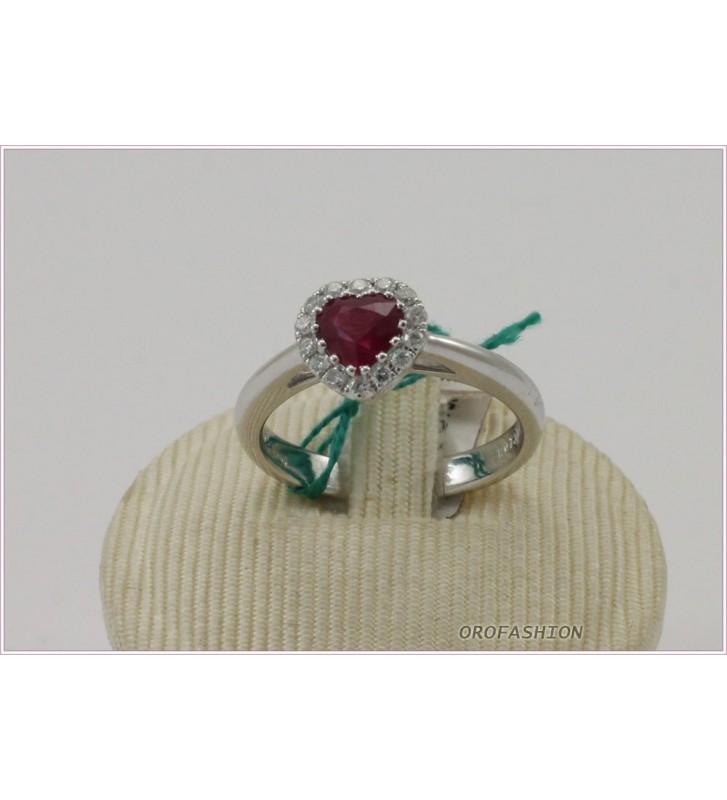 Anello in oro bianco  18KT diamanti e rubini 2007165 - Valore 1.650