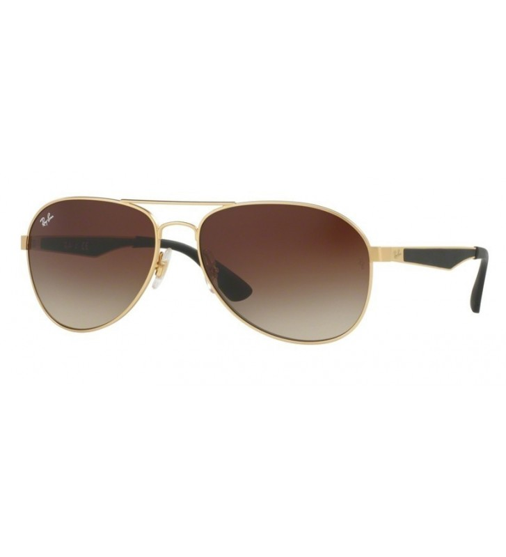 Occhiali sole Ray Ban RB3549 112/13 61 Matte Gold Gradient Brown