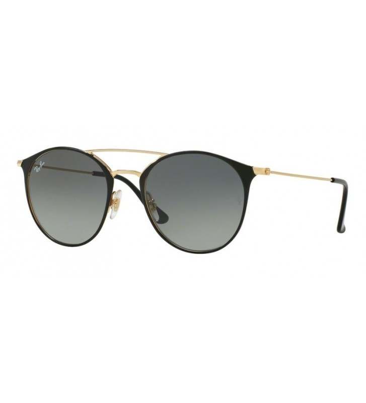 Occhiali sole Ray Ban New RB3546 187/71 52 Gold Top Black