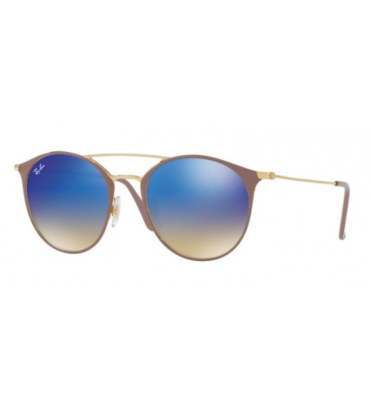 Occhiali sole Ray Ban New RB3546 9011/8B 49 Gold Top Beige