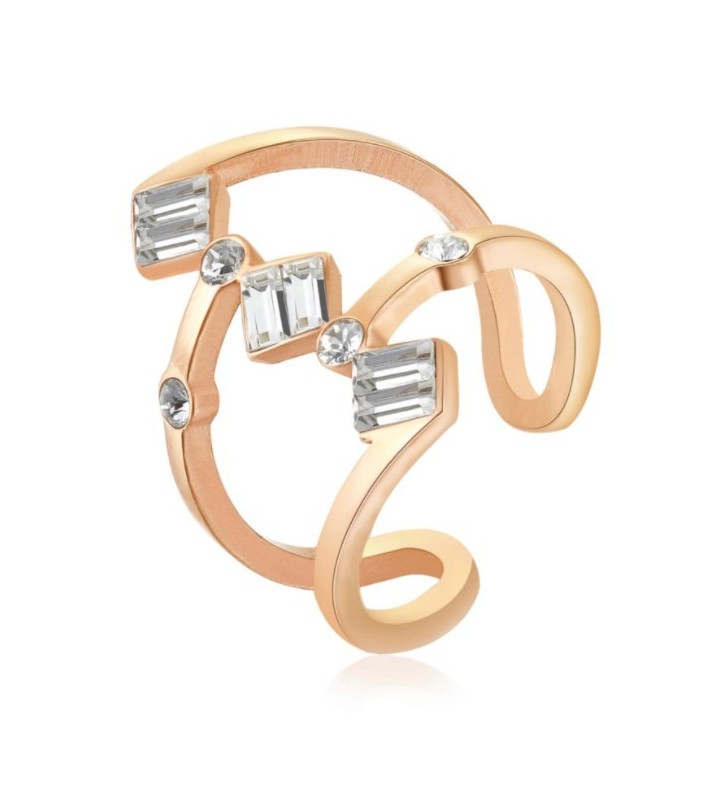 Bracciale KIDULT FAMILY in acciaio 316L - 731020 pvd rose gold - PET