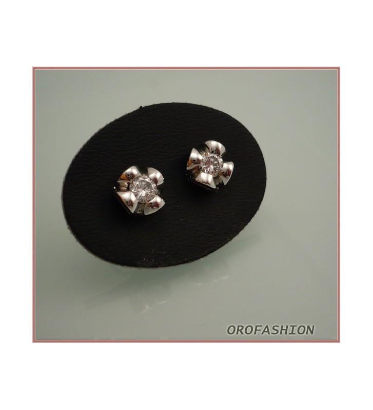 Orecchini oro bianco 18Kt con diamanti - Valore  790