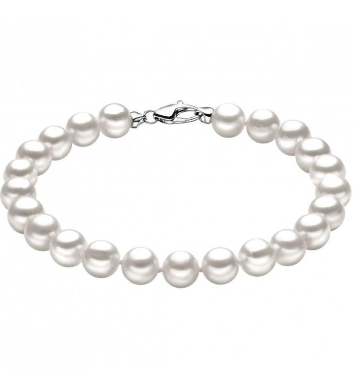 Bracciale COMETE GIOIELLI di perle e oro bianco 18kt BRQ109