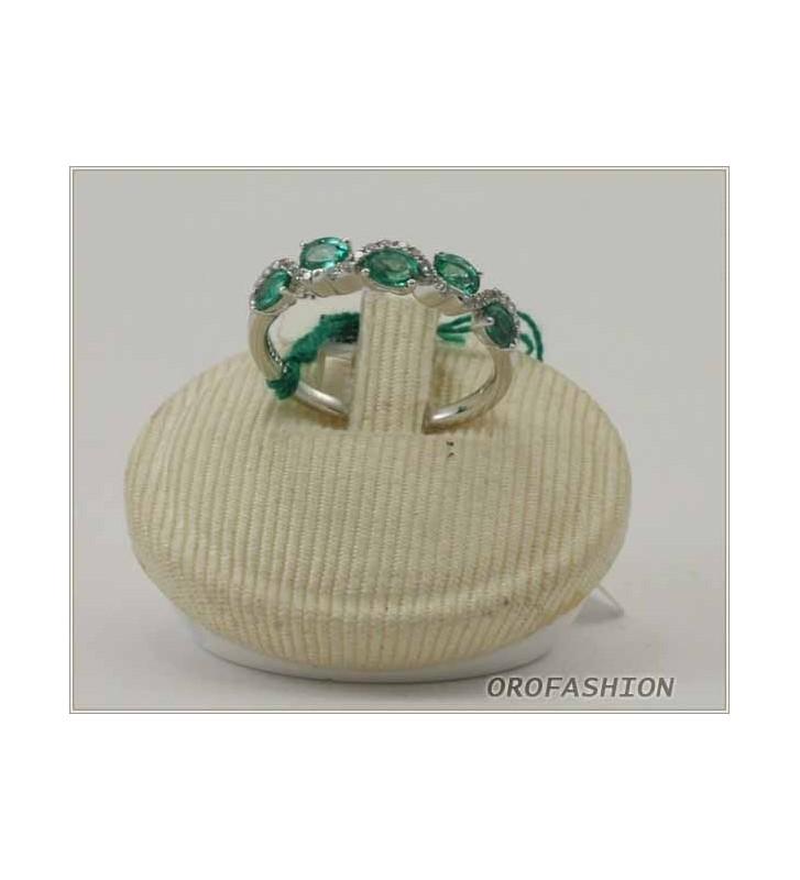 Anello in oro 18Kt con diamanti e smeraldi 269161