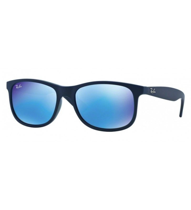Occhiali sole Ray Ban ANDY RB4202  6153/55 55 Shiny Blue on Matte Top