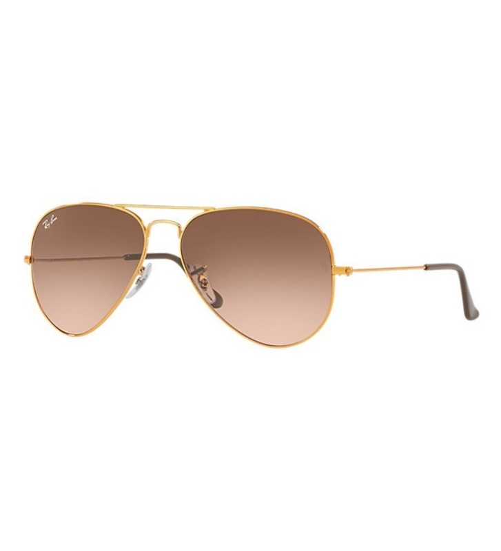 Occhiali Ray Ban AVIATOR GRADIENT RB3025 9001/A5 55 Pink/Brown Shaded