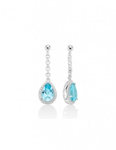 Earrings in white gold 9kt with pearls MILUNA PPN885BMX