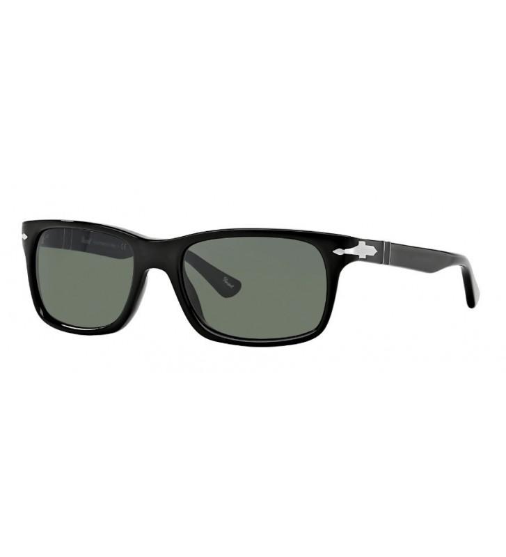 Occhiali sole PERSOL originali PO3048-S 95/31 55 Black Crystal Green