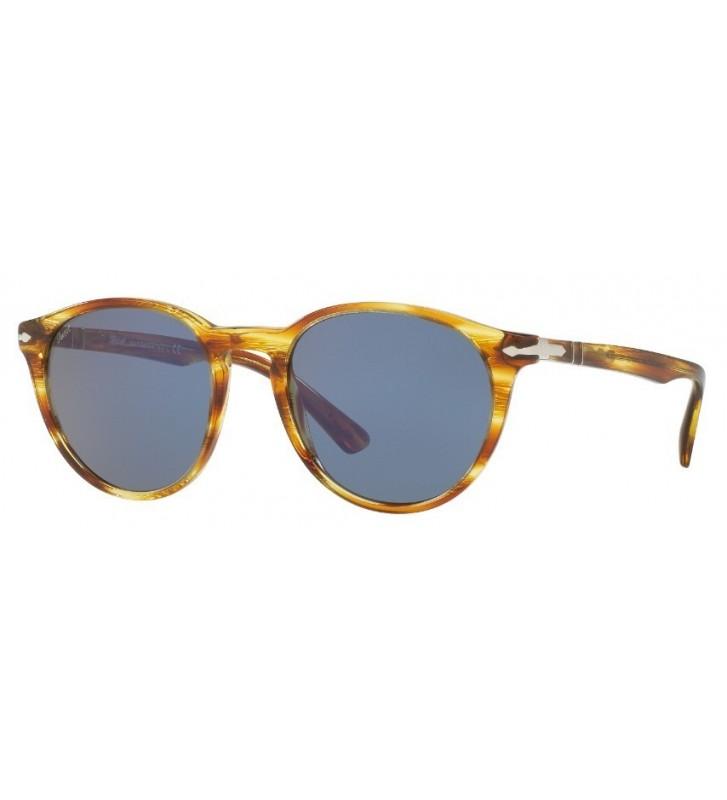 Occhiali sole PERSOL originali PO3152S 9043/56 52-20 Brown Striped