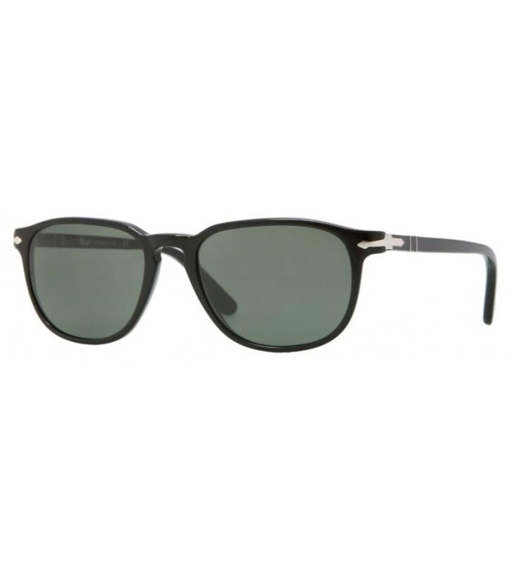Occhiali sole PERSOL originali PO3019S 95/31 55-18 Black Crystal Green