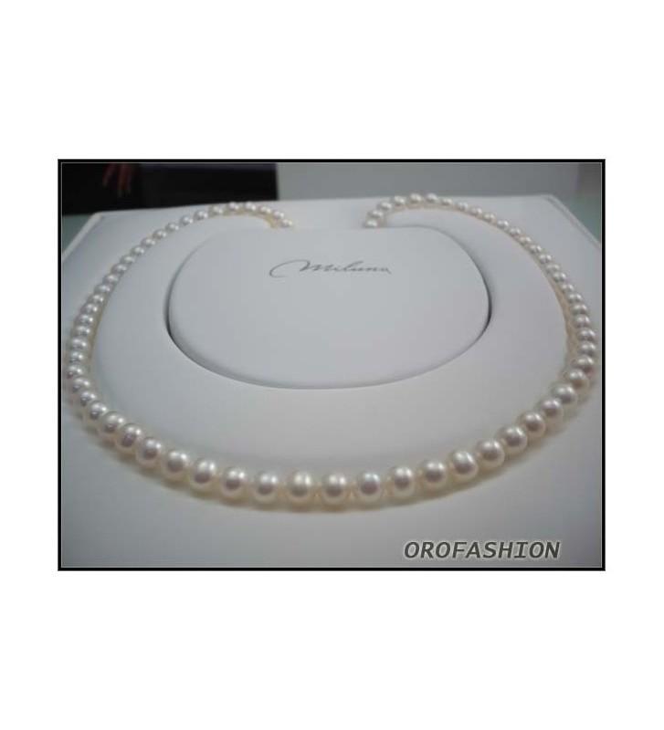SALDI Girocollo MILUNA di perle e oro bianco18kt 1MPE885_45NL583