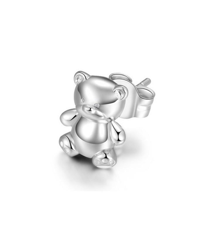Orecchini ROSATO in argento 925 - RSOD21 - ORSETTO SINGOLO