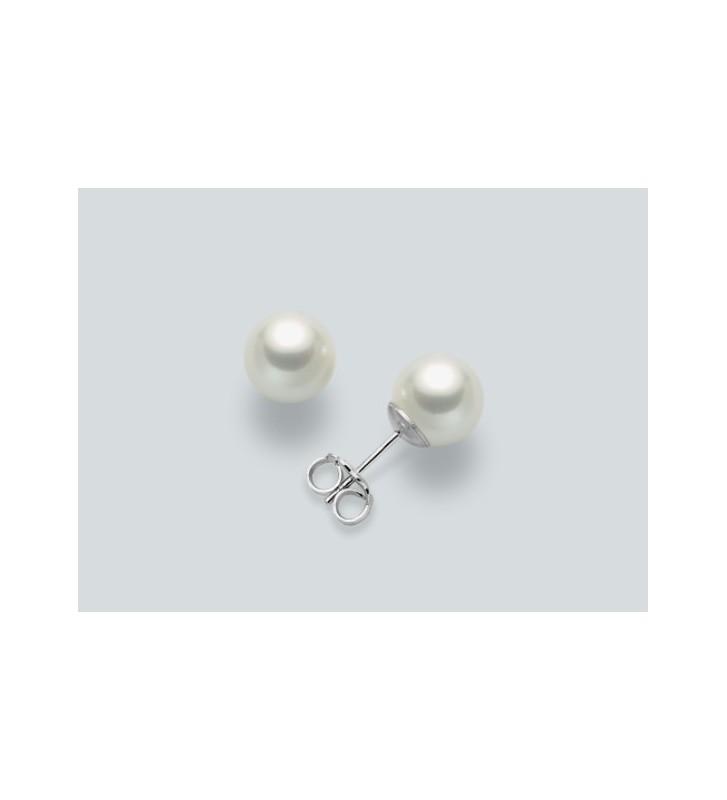 Orecchini MILUNA oro bianco 18kt con perle PPN775BM