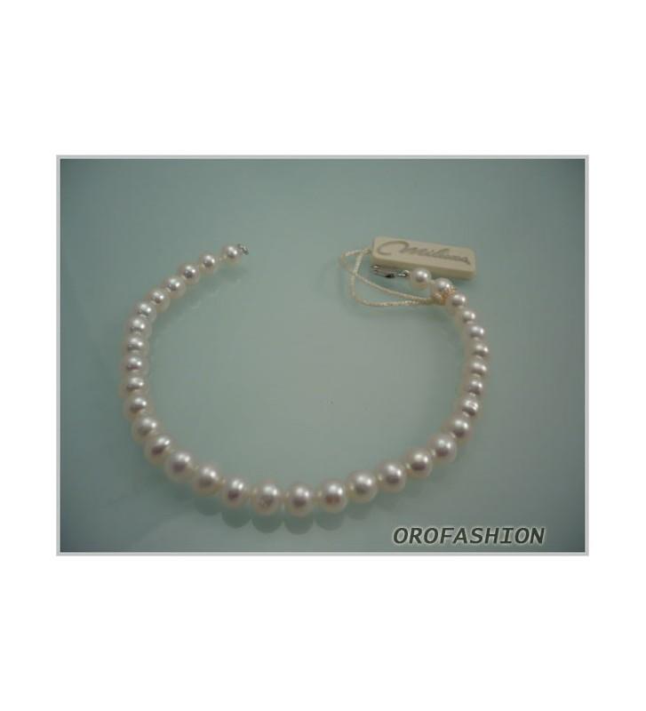 SALDI Bracciale MILUNA di perle e oro bianco 18kt 1MPE775_18NL583