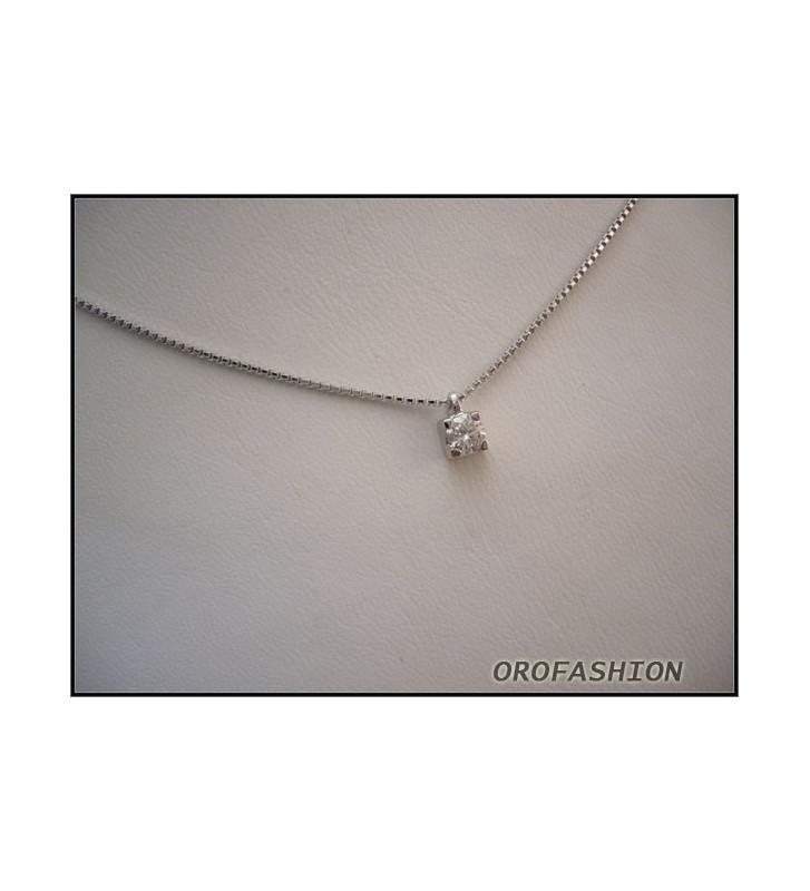 Collana oro bianco con diamanti COMETE GIOIELLI GLB553