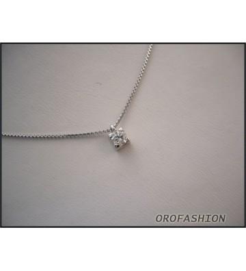 Collana COMETE GIOIELLI oro bianco con diamanti GLB553
