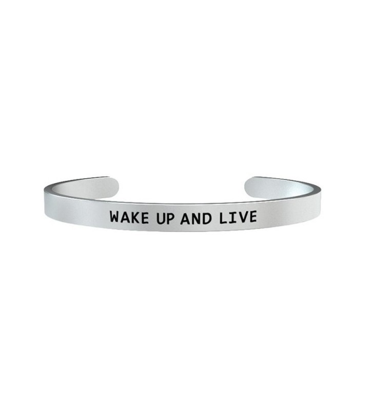 Bracciale KIDULT UOMO PHILOSOPHY in acciaio 316L - 731162 Wake up and live