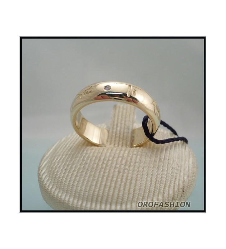 Anello BLISS in oro 9kr TI AMO OGNI GIORNO DI + diamante 2037200 mis.15 1/2