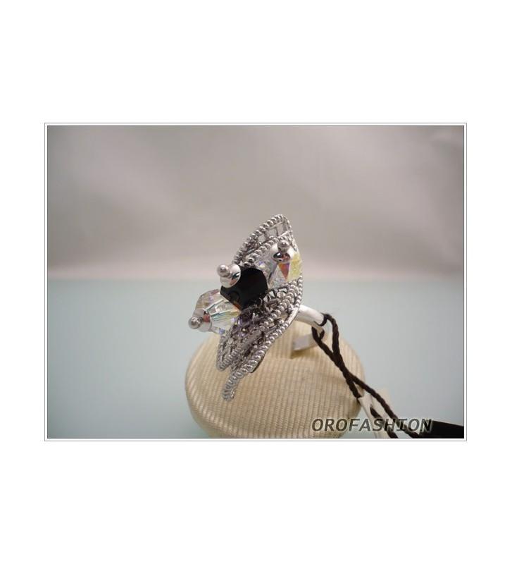 SALDI Anello in argento BOCCADAMO con cristalli swarovski mis.15 - AN332