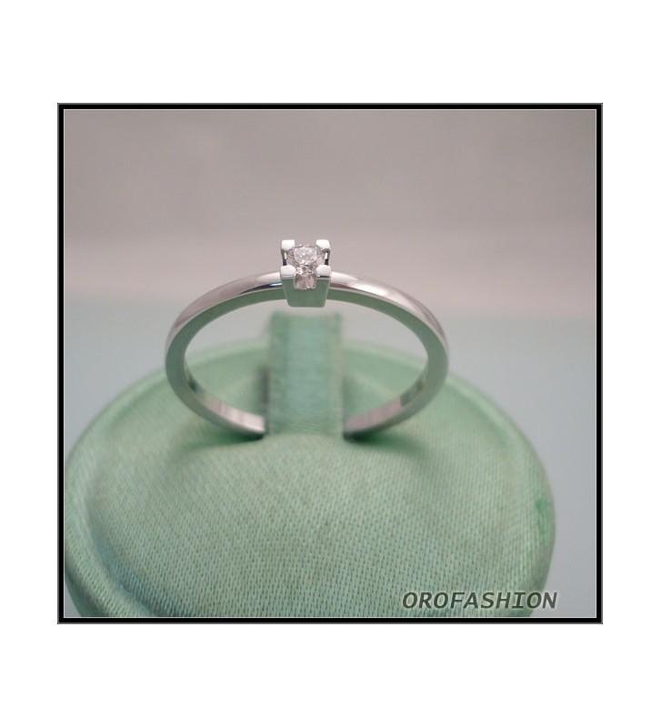 Anello oro e diamante solitario ct. 0.05 - 8111116 - Valore 370