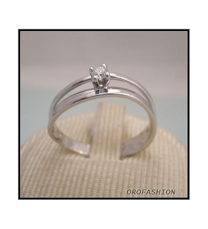 Anello oro e diamante solitario ct. 0.07 - 8111121 - Valore 410