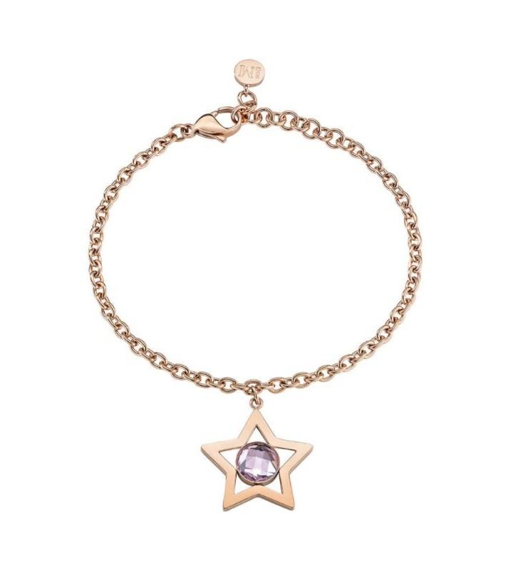 Fede nuziale esclusiva oro rosè e bianco 18kt con diamanti - AF40ZU