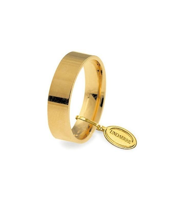 Fede UNOAERRE Fedi Cerchi di Luce 5 mm in oro giallo