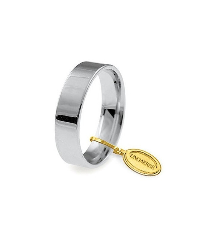 Fede UNOAERRE Fedi Cerchi di Luce 5 mm in oro bianco