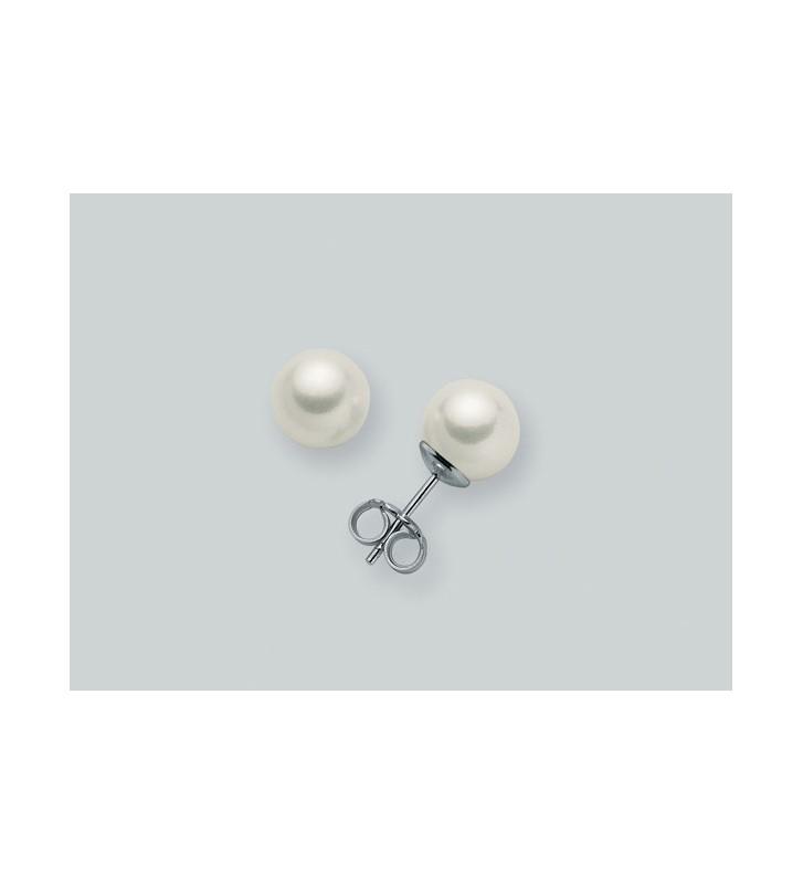 Orecchini MILUNA in oro bianco 9kt e perle PPN859BMX