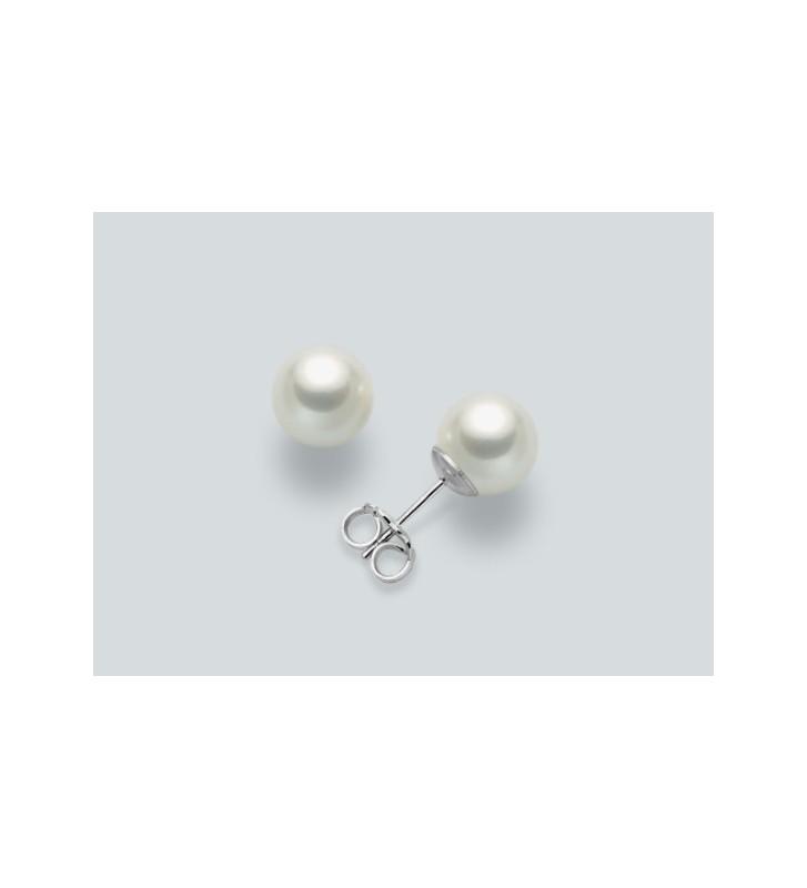 Orecchini MILUNA in oro bianco 9kt e perle  PPN657BMX