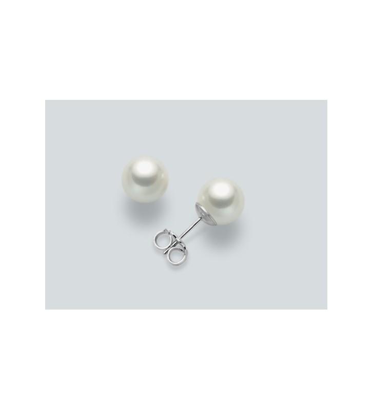 Orecchini MILUNA in oro bianco 9kt e perle PPN555BMX