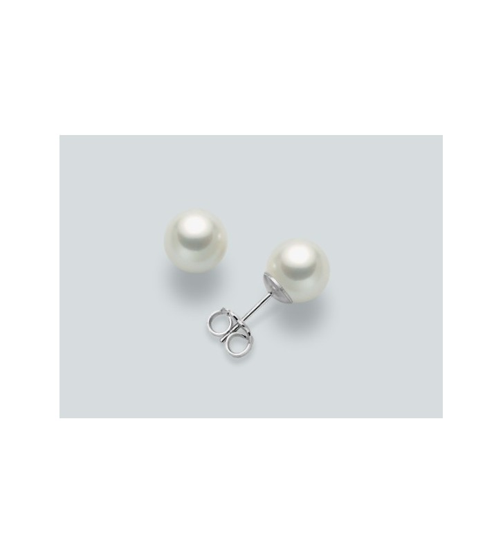 Orecchini MILUNA in oro bianco 9kt e perle PPN455BMX