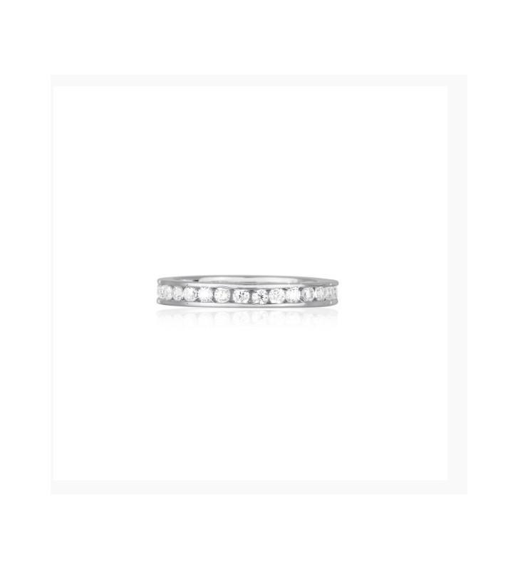 Anello oro bianco diamante solitario - Valore 1040