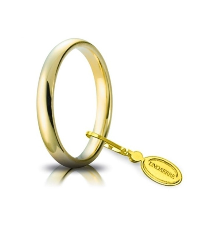 Fede UNOAERRE Fedi Comode 3 mm in oro giallo 30 AFC 1 COL. 01