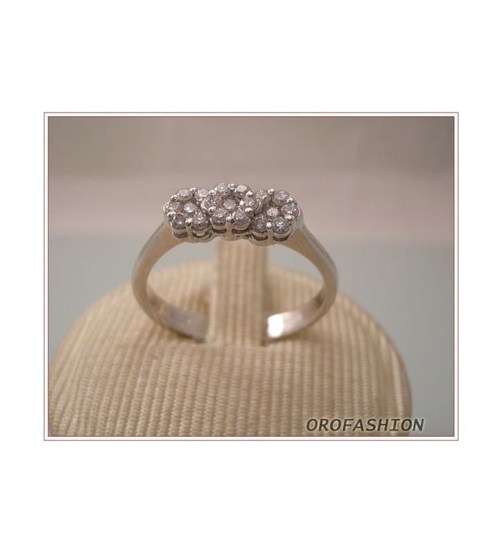 Anello oro trilogy diamanti ct. 0.31 - Valore 850 - 2410121