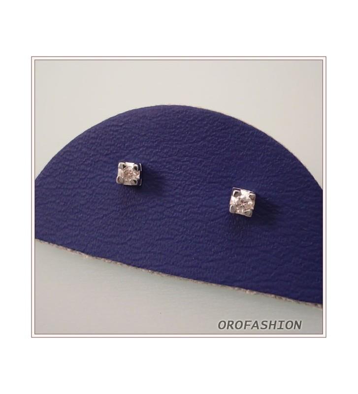 Orecchini oro bianco e diamanti  ct. 0.04 - 26101231 DMTR Valore 220