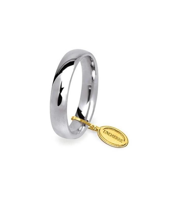 Fede UNOAERRE Fedi Comode 5 mm in oro bianco 50 AFC 1 COL. 04